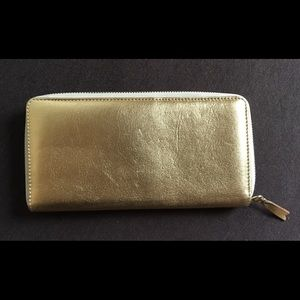 Comme de garçon gold zip wallet